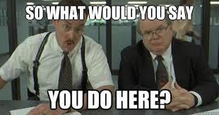 What Do You Do Memes - what do you do here funny office space meme