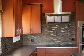 slate backsplash in kitchen slate and metal backsplash modern kitchen by