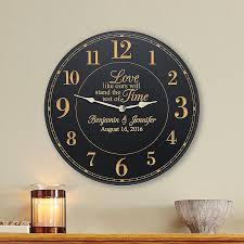 new personalized gift time gift test of time wedding clock clocks