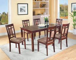 cappuccino 7 piece dining set dining room furniture sets