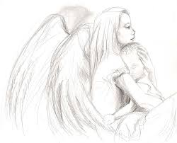 drawn angel guardian angel pencil and in color drawn angel