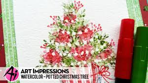 potted christmas tree ai watercolor potted christmas tree