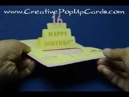 simple birthday cake pop up card version 2 youtube