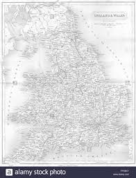 Wales England Map by Uk England Wales England Wales Fullarton Map 1841 Stock Photo