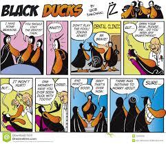 black ducks comic strip episode 1 royalty free stock photo image