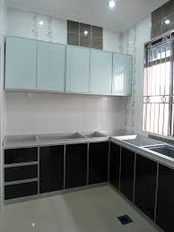 Aluminium Kitchen Cabinet Kitchen Great Aluminium Kitchen Cabinet With Laminated Glass And