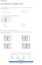 quiz u0026 worksheet venn diagrams in math study com