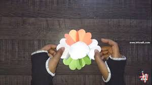 Flag Flower How To Make Tricolour Indian Flag 3d Flower Popup Card Tutorial