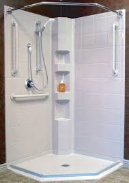 42 x 42 corner shower kit curbless shower 100 colors