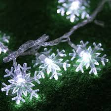 snowflake lights 2m 20 led string lights battery operated snowflake fairy twinkle