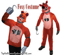 foxy costume five nights at freddy s costumes freddy foxy bonnie chica