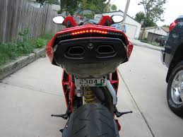 led strip lights for motorcycles custom led tail light and license plate bracket installed today