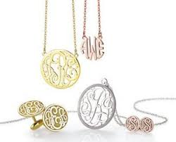 Monogram Jewlery Affordable Fine Jewelry