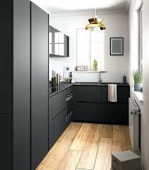 cuisine blanche et noir cuisine noir mat et bois deco cuisine noir decoration cuisine