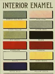 aladdin paint 1916 interior enamel colors enamel paint