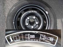 mercedes wheel nuts bert rowe s a class info spare wheel tyre care