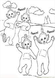 teletubbies cartoons kids coloring