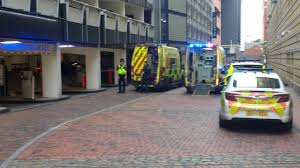 brindleyplace cordoned off after man falls from multi storey car