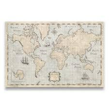 Cork World Map by World Travel Push Pin Map Rustic Vintage Cork Pin Board