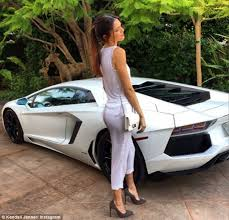 all white lamborghini the richest of all the of instagram kendall jenner poses up