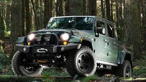jeep brute black aev brute double cab wrangler pickup gets land rover level luxury