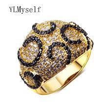 designer rings aliexpress buy high quality designer rings jewelry black cz