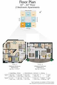 Floor Plan Front View by Madison Residency Floor Plans Tecom Dubai