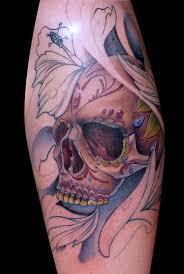 25 skull half sleeve tattoos