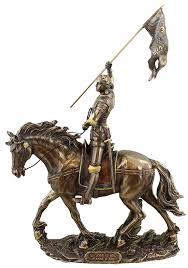 Joan Of Arc Flag Amazon Com Sale Joan Of Arc On Horse Back With Flag Home U0026 Kitchen