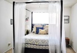 Long White Curtains Breathtaking White Sheer Canopy Bed Curtain Pictures Design Ideas