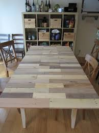 Diy Kitchen Table Top by Adventures Of A Diy Kitchen Table U2013 From Pallet To Table Top