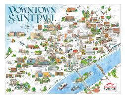 map of st maps paul almanac