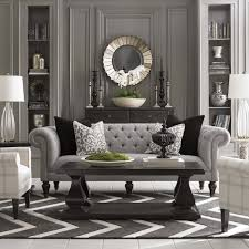 victorian house living room ideas with unique mirror and grey sofa