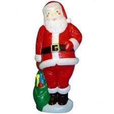 large santa claus lighted plastic mold light up