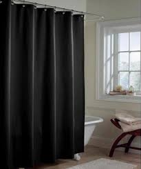 Black And Gray Curtains Solid Black Microfiber Shower Curtain Or Liner Bedbathhome