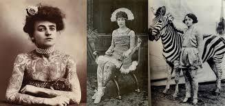 retro circus tattooed ladies