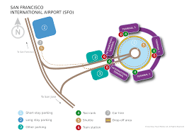 San Francisco International Airport Map by San Francisco Airport Lufthansa Travel Guide