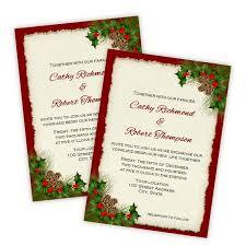 christmas wedding invitations christmas invitation templates a j s prints