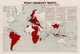 World Map Germany by First World War Propaganda Map Rare U0026 Antique Maps