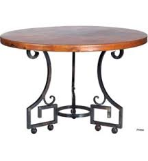 Hammered Copper Dining Table Dining Prima Design Source