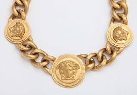 chain necklace images Versace 3 medusa gold chain necklace at 1stdibs jpg