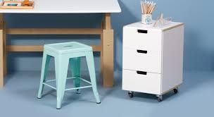 Schreibtisch Rollcontainer Rollcontainer In Weiß Mit 3 Farbigen Schubladen Kids Town