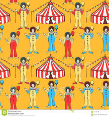 sketch circus tent and clawn stock illustration image 57729122