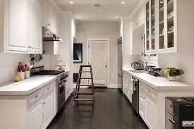 kitchen inspiring galley cottage kitchen design with cabinet