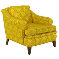 damask chair 1940s button tufted club chair in gold damask for sale at 1stdibs