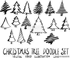 Drawn Christmas Tree Vector