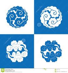 circular cloud patterns china style stock vector image 49624720