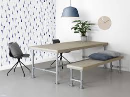 Schreibtisch 3 Meter Bauholz Tisch Mit Gerüstrohren Industriedesign Schreibtisch