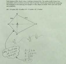 Area Of Compound Shapes Worksheet Area Of Kite Students Are Asked To Find The Area Of A Kite By