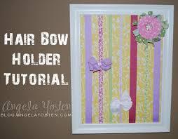bow holders angela yosten hair bow holder tutorial